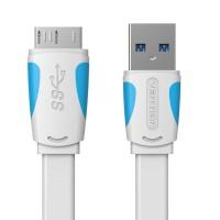[0.25M - A12 Black] Vention Kabel Data Harddsik HDD Eksternal USB 3.0