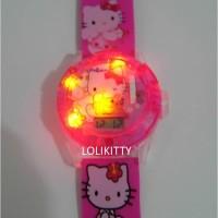 Jam Tangan Anak Hologram Proyektor, Laser, Music Hello Kitty AJP 11