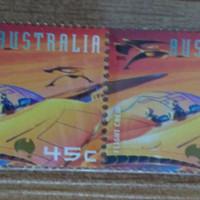 Perangko Kuno Australia Luar Angkasa Flight Crew Murah