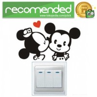 Sticker Wallpaper Dinding Minnie Mickey - Hitam
