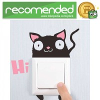 Sticker Wallpaper Dinding Hi Cat - Hitam