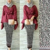 Promo Set 2in1 nafira maroon keong Hijab 0116 RD7 Limited Edition