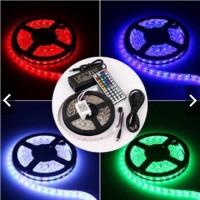 RGB 12V 5050 FULLSET 5m Lampu Selang LED Strip Simpan Plafon Warna W