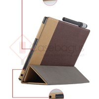 Lenovo Yoga Book 10.1 Inch - Oxford Dual Tone Leather Flip wallet case