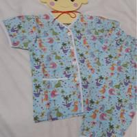 Baju Tidur Anak Laki Laki Perempuan Pajamas Dino Kecil Dinosaurus Baju