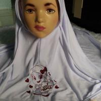 Bergo Kaos Anak/ Jilbab Bordir Anak / Kerudung SD