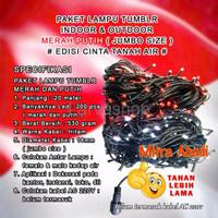 Harga lampu natal merah putih kabel hitam edisi cinta tanah air 20   Pembandingharga.com