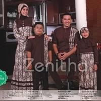 Diskon Seragam Muslim Keluarga Zn 244 - Baju Muslim Keluarga Komplit