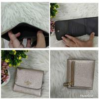Dompet Coach Mini Trifold Wallet Platinum Leather Original fd05518c0e