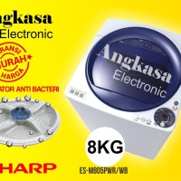 Mesin Cuci Sharp 8Kg ESM805PWB / ESM805 / Top Loading / 1 Tabung