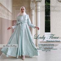 Gamis eid series Lady fleur premium gown ori by flh