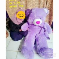 Harga boneka beruang jumbo ungu atau biru teddy bear 1 5 | antitipu.com