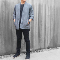 Grey Kimono / Kemeja Koko / Yukata by Musca
