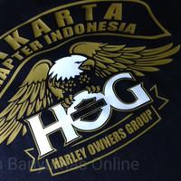 Jual Atasan/Kaos/T-Shirt/HARLEY DAVIDSON HOG CHAPTER JAKARTA GOLD EDITION Murah