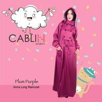 Jas Hujan Muslimah Cablin Tipe Anna Warna Plum Purple Size M XL