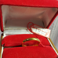 Cincin Emas Kuning Simple Polos Kawin Tunangan Perhiasan Asli Gold