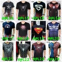 Jual FLASH SALE Kaos Premium Spandex 3D Full Print Kostum Superhero Murah