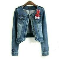 nn lea jeans biru jaket  pakaian wanita atasan top cewek