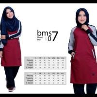 Baju Olahraga Kaos Muslimah Believe Bms 07 Merah Hati !