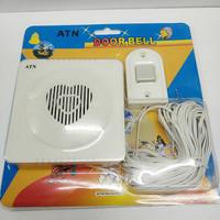 BEL PINTU Rumah / Door Bell ATN / Bell Musik 12 Lagu + Kabel 15M
