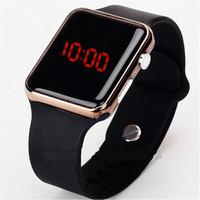 Jam tangan Unisex pria / wanita Display LED digital