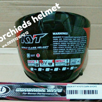 Kaca visor helm kyt kyoto INK Dynamic dark smoke original