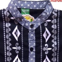 Baju Koko Anak Hitam Pakaian Muslim Anak Keren Maruno - Vi-Xviii Bulan