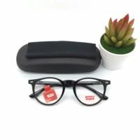 frame kacamata levis 023 hitam kilat original