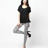 Harga Legging Motif Zebra Stretch Travelbon.com