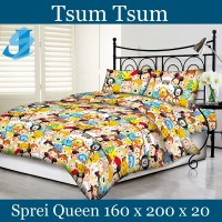Tommony Sprei Queen 160 x 200 - Tsum Tsum