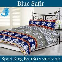 Tommony Sprei King B2 180 x 200 - Blue Safir