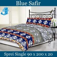 Tommony Sprei Single 90 x 200 - Blue Safir