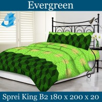 Tommony Sprei King B2 180 x 200 - Evergreen