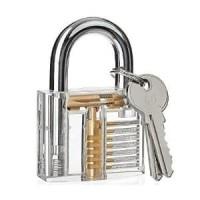 Gembok Transparan kunci motor kunci engsel pintu unik bening Diskon