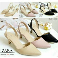 Sepatu Heels Heels Zara Basic Replika Salem Pink