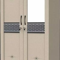 Lemari Pakaian Almari Baju Panel 2 Pintu Bahan Olympic Murah Laris