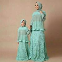 Baju couple murah gamis lebaran ibu dan anak brokat