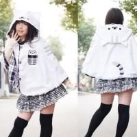 nekoatsume cat cape white