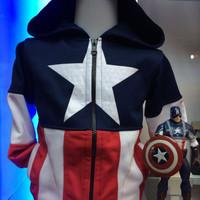 Jaket Anak Captain America / Kapten Amerika Navy XXL