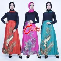 Jual dress lbaju muslim lengan panjang batik silk, baju ibu menyusui Murah