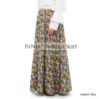a4473ffc1e14 Rok Panjang Payung Maxi Muslimah Flowery Woolpeach Kembang Setaman