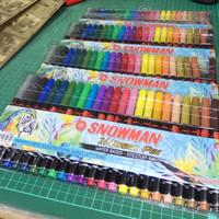 PROMO - SNOWMAN Brush Pen 24 warna - 5set