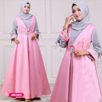 Gamis wanita muslim dress sandra