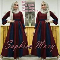 S SALE Saphire maxy maroon ~ baju muslim wanita ~ baju muslim perempua