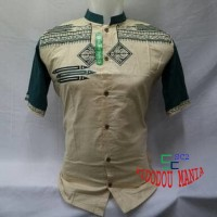 Baju Muslim Pria Dewasa Baju Koko Lengan Pendek Tanah Abang KWV 063 Mu