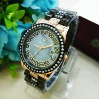 Jam Tangan Wanita / Cewe Rolex Agri Hitam Rose