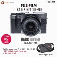 Promo Kamera Mirrorless Terlaris Fujifilm XA5 Dark Silver