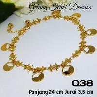 Q38 Gelang Kaki Anklet Chanel -Set Perhiasan Imitasi Xuping Lapis Emas