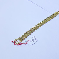 Gelang kaki emas kuning 70% berat 32.9 gram panjang 26cm sisik naga