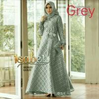 Baju Gamis Lebaran Dress Wanita Dewasa Muslim Polos Elegant Warna Grey